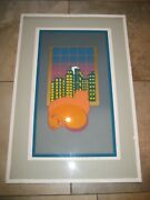 Listed Artist Jane Thorpe Signed Matted And Framed 1978 Summer Night 8 Of 28 Cat
