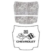 Hood Insulation Pad Heat Shield For 1956-1957 Chevrolet Corvette With Ceid-265