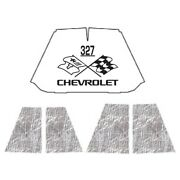 Hood Insulation Pad Heat Shield For 47-54 Chevrolet Truck Under Cover W/ceid-327