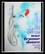 A Gentle Woman Robert Bresson 4x6 Ft French Grande Movie Poster Original 1969
