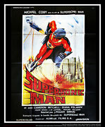 Supersonic Man 4x6 Ft French Grande Original Movie Poster 1979