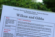 Willcox And Gibbs Sewing Machine Flashcard Info At A Glancelaminatedwipes Clean