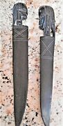 2 Vintage Hand Carved African Ebony Wood Head Busts Letter Openers