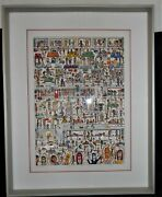 1989 James Rizzi Women Who Workout Large 3-d Artwork Signed And Framed Superb