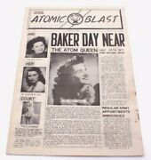 Us Army Air Forces Atomic Blast 1946 Ww2 Wwii Newspaper 58th Bomb Wing 509th