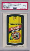 1974 Topps Wacky Packs Easy Cough Cleaner Psa 9 Mint Series 9 Packages Centered