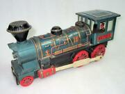 Vintage Battery Operated Train Engine Collectible Made In Japan Toy Fine Printed