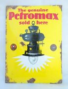 Porcelain Enamel Petromax Lantern Sold Here Sign Board Germany Collectible