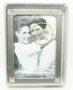 New Lot Of 5 Silver Crystal Jeweled 2x3 Picture Frames - Great For Wedding