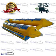 16x10ft Inflatable Banana Boat For 10 Passenger Water Games Sled With Air Pump