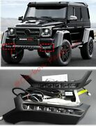 W463 Front Lip Spoiler With Led 4x4 Brabus Style Mercedes-benz G-class