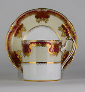 Royal Crown Derby Raised Gold Cup And Saucer