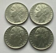 Lot Of 4 Italy 100 Lira 196019781979 And 1981 Coin