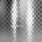 Food Truck And Restaurant Diamond Quilt Stainless Steel Chrome 24ga 4and039 X 10and039