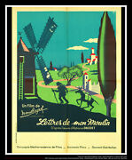 Letters From Windmill Pagnol 24 X 32 French Fold Movie Poster Original 1954