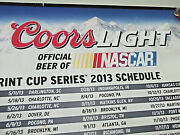 36 X 17 Nascar Sprint Cup Series 2013 Schedule Coors Light Beer Glossy Poster