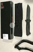 Gerber Prodigy Black Soft Grip. Leg Strap.part Serrated Made In Usa. Authentic