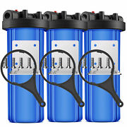 3 Stage Whole House Water Filter System 1 Port With Bracket,20-inch Big Blue