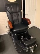 Black Massage Spa Pedicure Chair With Stool And Cart - Excellent Condition