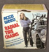 Vintage Acco Weed Radial Tire Chains 1130. One Pair. New In Box