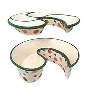 Traybrella Outdoor Planter Ceramic Snack Chips And Dip Serving Tray Patio Deck