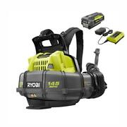 Ryobi Cordless Backpack Blower 40v Lithium Ion 5ah Battery Charger 145mph 625cfm