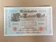 1000 Mark 1910 From Germany Red Seal Offer 22.