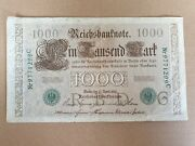 1000 Mark 1910 Green Seal From Germany Offer 11