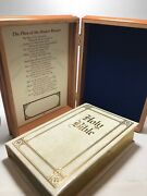 Holy Bible Memorial Edition With Wooden Box Union Workers Sympathy King James