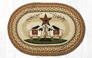 Sheep And Barn Stars Rug 20 X 30 Earth Rugs Trees Primitive Country Farmhouse