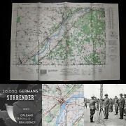 Wwii Rare 9th Army Vet Map Army Assault Map Of Beaugency France Ww2 Relic