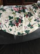 Two Waverly Pleasant Valley Roses Berries Scalloped Valance Cotton 76 Wide
