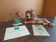 Wdcc Disney Lion King Mufasa And Simba Pals Forever Timon Luau Collection Figurine