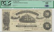 T-9 Pf-14 1861 20 Confederate Paper Money - Pcgs Choice About New 55 - Plus