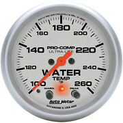 Autometer Amt-4454 Gauge, Ultra-lite, Water Temperature, 2 5/8 In., 260 Degrees