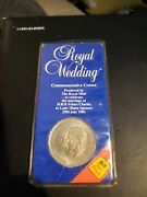 Vintage Crown Royal Mint Coin 1981 Wedding Charles Lady Diana