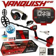 Minelab Vanquish 540 With Headphones 12 Coil With Cover And Recharg. Batteries