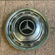 Genuine 1970-1980 Mercedes Benz 14 Wheel Cover Hub Cap W/ Mounting Clips 2