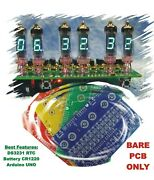 No Parts Bare Pcb Only, Iv-3, Iv-6 For 6x Vfd Tubes Arduino Clock Shield