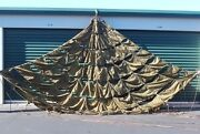 Used Us Military 22' Ring Slot Cargo Parachute With All Suspension Lines, Uncut