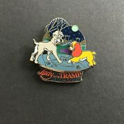 Wdw - Lady And The Tramp Platinum Dvd Release Le 1500 Rare Disney Pin 45610