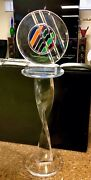 Beautiful Shlomi Haziza Abstract Lucite Sculpture And Pedestal Stand Signed