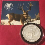 Bigfoot Buck American Hunting Club 1 Troy Oz .999 Fine Silver Round Proof Coin