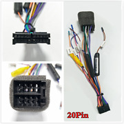 Plugandplay 20pin Iso Wiring Harness Car Stereo Rear View Camera Adapter Connector