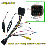 Universal 20pin Iso Wiring Harness Connector Adapter For Car Radipo Stereo Dvd
