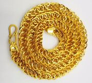 Gold Chain 22k Hollow Broad Chain Pattern Persian Durable Unisex Jewellery