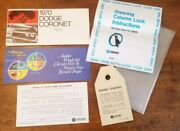 Oe 1970 Dodge Coronet Superbee Owners Manual Eng Starting Tag Steering Lock Inst