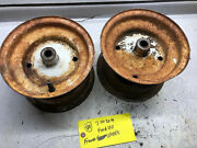 Ford 100 Tractor Front Wheels Had 16x6.5-8 Tires, 8x5.5