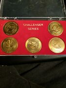 Nasa Space Shuttle Challenge Coin Set Of 5 Coins Vintage Rare