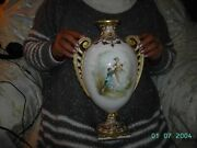 Beautiful Large Vase Painted By Samuel Alcock And Signed. Made By Copelands